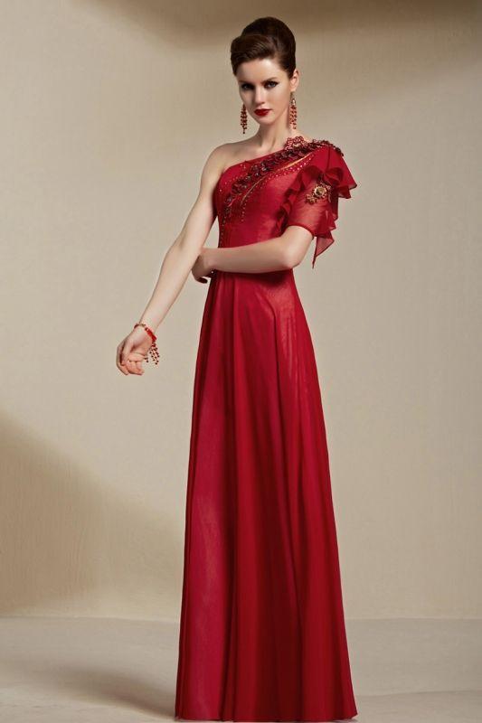 魅惑のワンショルダー高級ロングドレス - ロングドレス・パーティードレスはGN|演奏会や結婚式に大活躍!