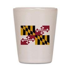 """Maryland State Flag"" Shot Glass"