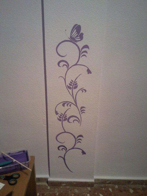 48 best ideas para decorar con vinilos y plantillas images - Plantillas de letras para pintar paredes ...