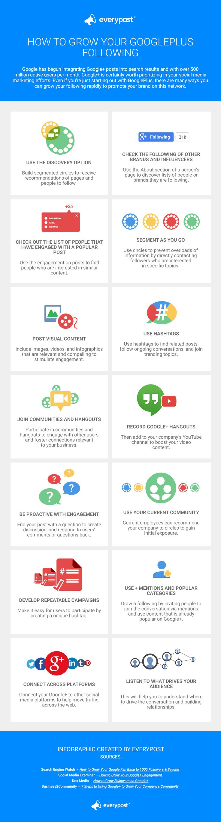 #SocialMedia Marketing: 14 Ways To Grow Your #GooglePlus Following - #infographic