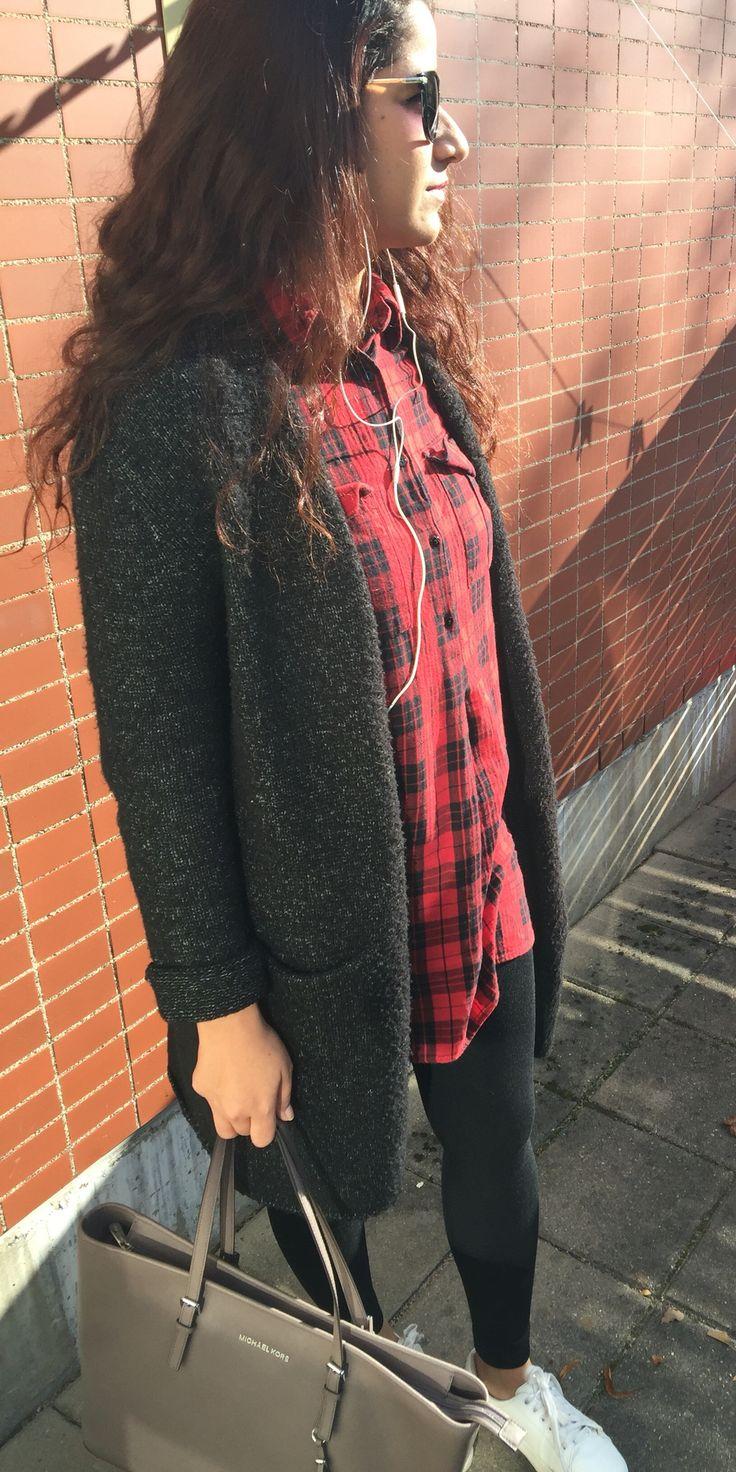 Gina tricot: sweater  Bag: Micheal Kors Shoe: HM Dress: Zara