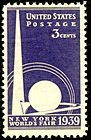 US postage stamp for 1939 NY World's Fair