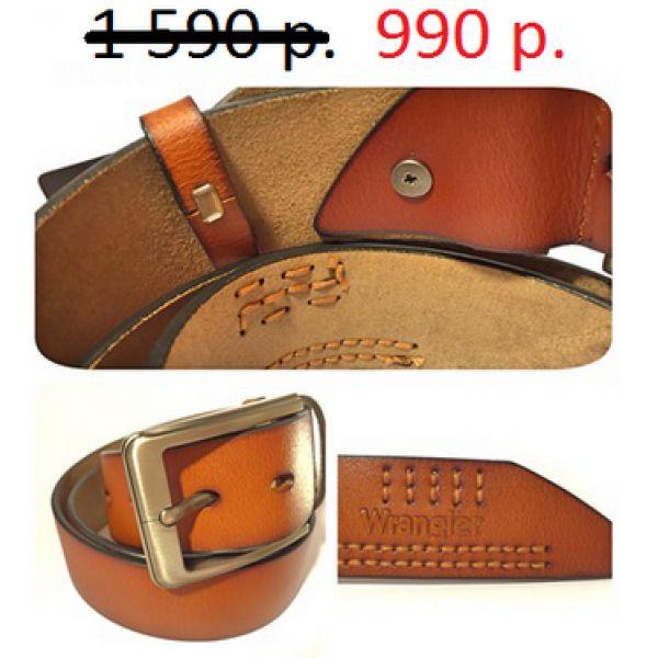 Ремень кожаный мужской Wrangler, контрастная строчка. В наличии также есть кожаные сумки для ноутбуков, мужские портмоны, кошельки, женские клатчи и многое другое. Размеры ремня от 100 см. до 120 см. #shoes, #jewelry, #women, #men, #hats, #watches, #belts