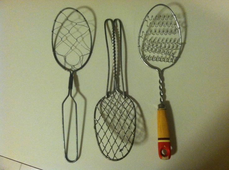 Three Primitive Antique Kitchen Utensil Wire Whisks Egg Scramblers Culinary Food Whips. $12.00, via Etsy.