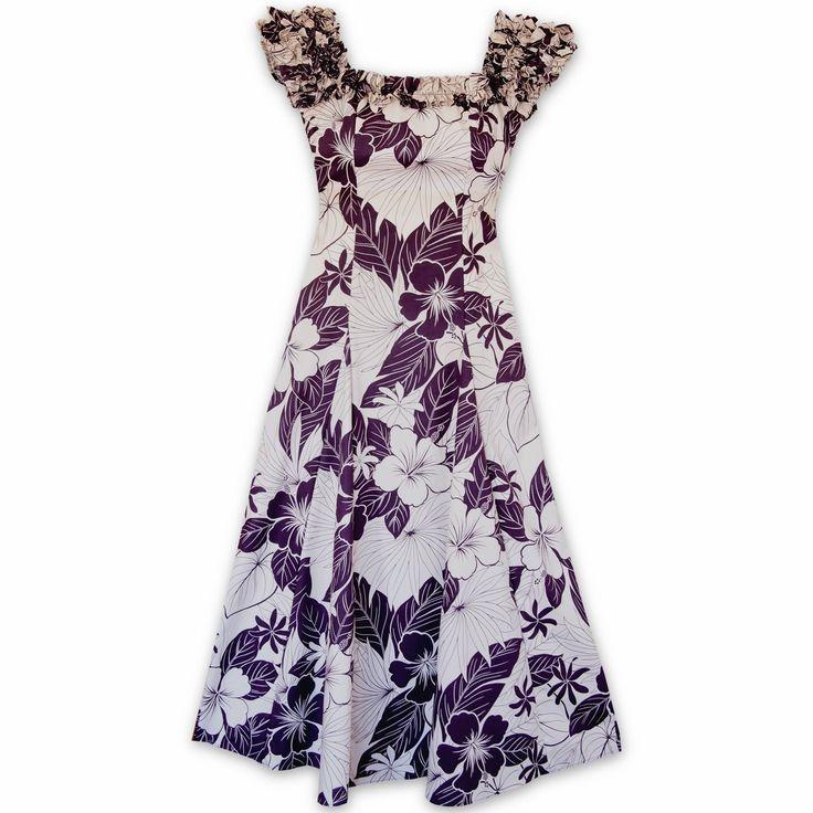 Haven Purple Leilani Hawaiian Muumuu Dress