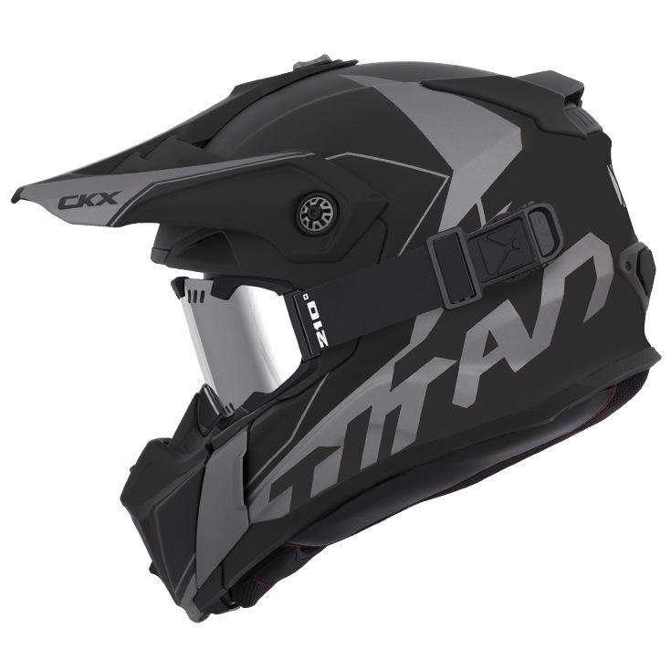 CKX - Off-road winter helmets - TITAN Cliff Grey Mat - kimpexnews.com