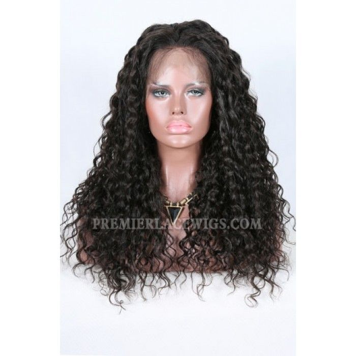 Sexy Natural Curls Brazilian Virgin Hair Improved 360°Anatomic Lace Wigs,150% Thick Density ,Pre-Plucked Hairline-Premierlacewigs.com