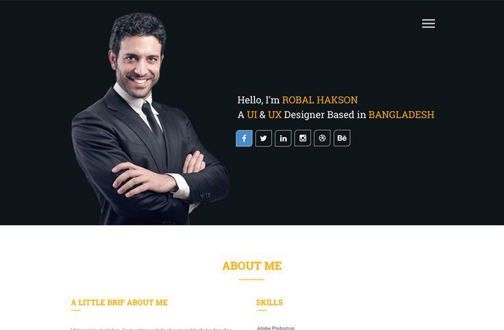 Baktigoto - Free Resume HTML Template - ReadyTheme Free web - free resume html template