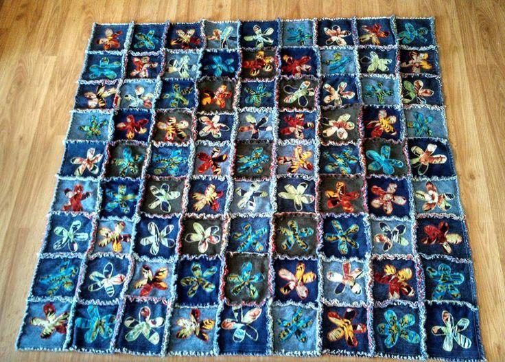 Denim Rag Flower Posted By Judy Sajewski Denim Jeans
