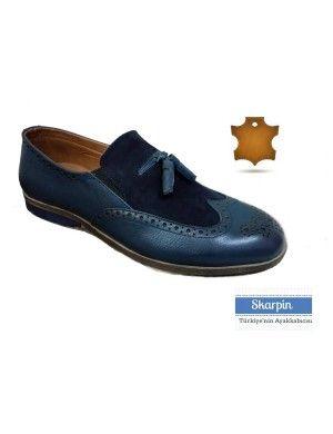 Nubuk Deri Püsküllü Erkek Ayakkabı HLT1509881 Laci Skarpin Ayakkabı #deri #nubuk #erkek #ayakkabı #moda #dappered #skarpin