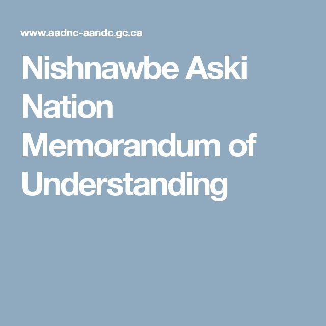 Nishnawbe Aski Nation Memorandum of Understanding