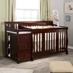 A Perfect Solution For A Small Nursery, A Crib Changing Table Combo  Provides Both A
