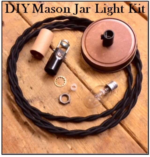 mason jar light kit diy pendant light kit lamp parts cloth wire antique bronze gardens jars. Black Bedroom Furniture Sets. Home Design Ideas