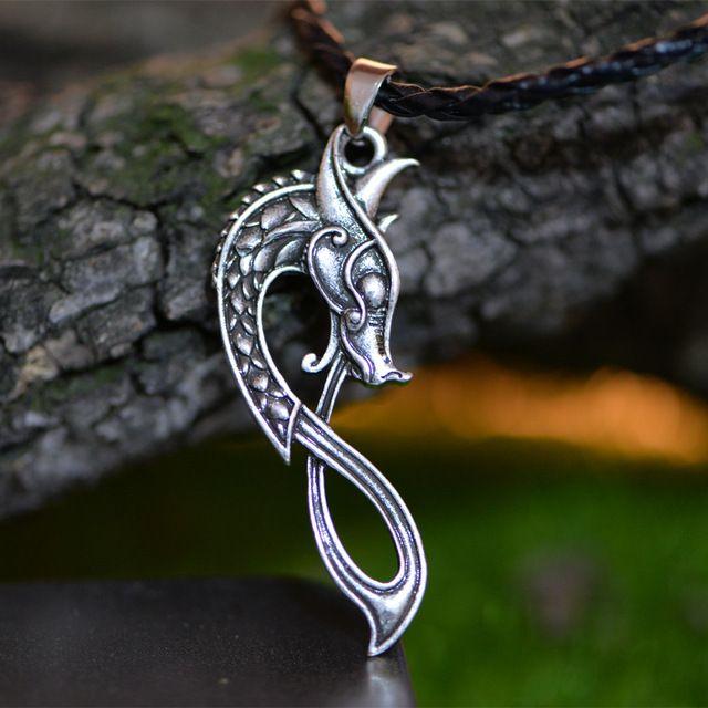 Scandinavian Dragon Pendant Necklace Products Norse Jewelry Dragon Pendant Viking Pendant