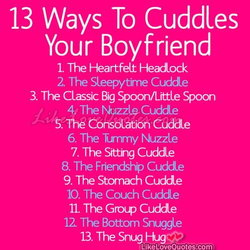 13 Best Ways To Cuddles Your Boyfriend