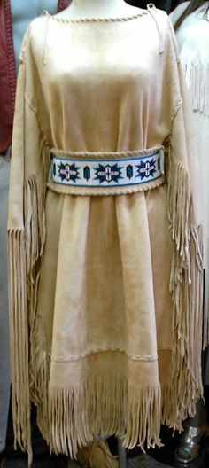 coast salish elk hide dress - Google Search