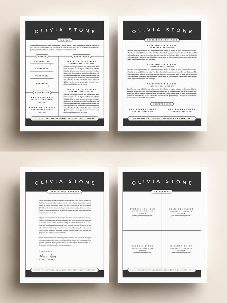 14 best Leslie Mason Beautiful Resume Cv Template images on - beautiful resume designs