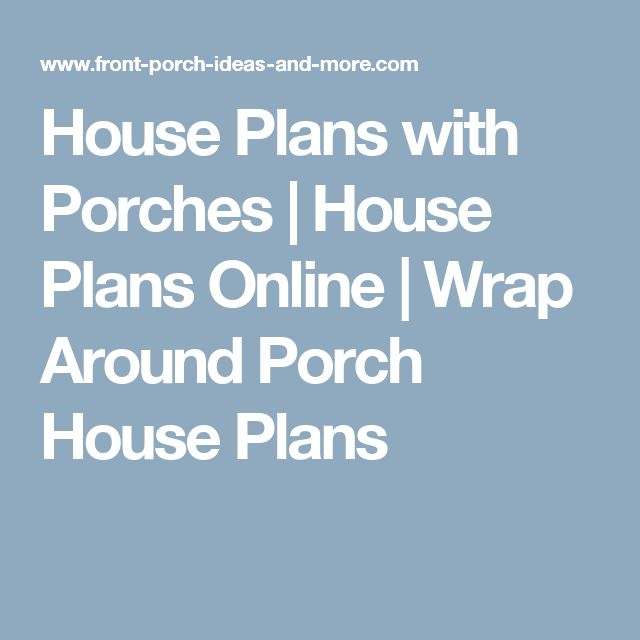 House Plans with Porches | House Plans Online | Wrap Around Porch House Plans