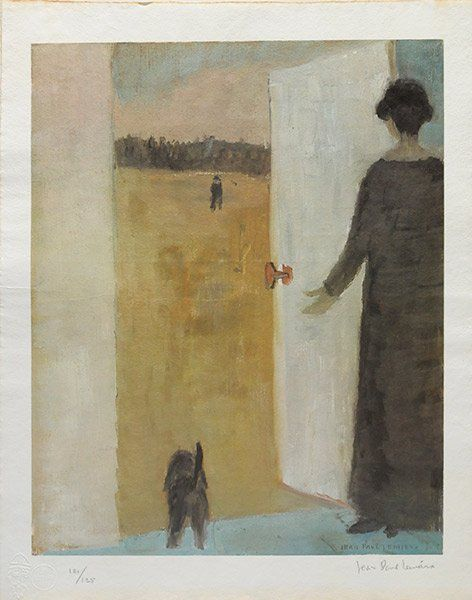 LEMIEUX, Jean-Paul RCA (1904-1990) Woman and cat at the door