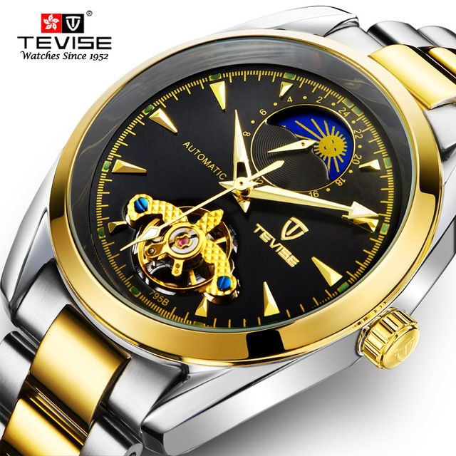 Special offer TEVISE Men's Automatic Self-Wind Stainless Steel Wristwatches Moon Phase Tourbillon Watch Automatico Mechanical Clock TVS24 just only $27.49 with free shipping worldwide  #menwatches Plese click on picture to see our special price for you