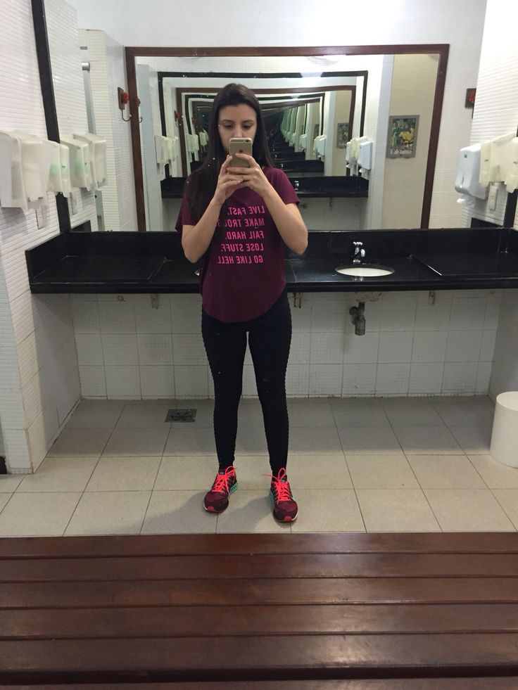 Look academia; legging lupo; blusa e tênis Nike