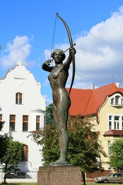 Bydgoszcz # Archer statue # Poland