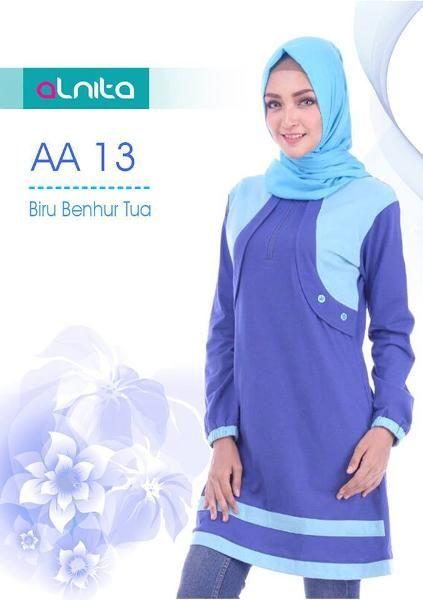 Beli Baju Atasan Wanita Tunik ALNITA AA-13 BIRU BENHUR TUA dari Aprilia Wati agenbajumuslim - Sidoarjo hanya di Bukalapak