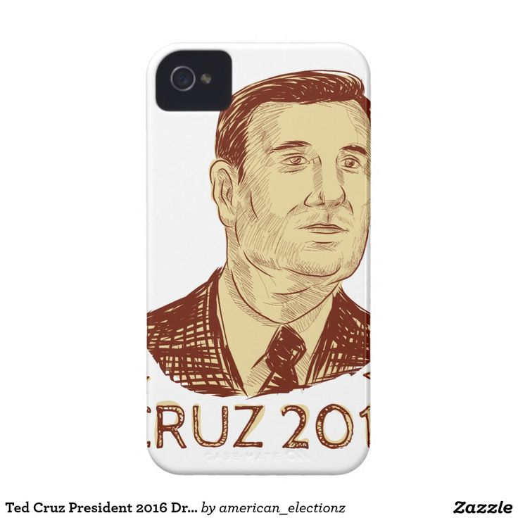 Ted Cruz President 2016 Drawing iPhone 4 Covers. Drawing sketch style illustration showing Rafael Edward Ted Cruz, an American senator, politician and Republican 2016 presidential candidate set inside crest shield with words Cruz 2016 . #Cruz2016 #republican #americanelections #elections #vote2016 #election2016