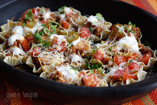 Skinny Loaded Nachos with Turkey, Beans and Cheese - We had these for ...