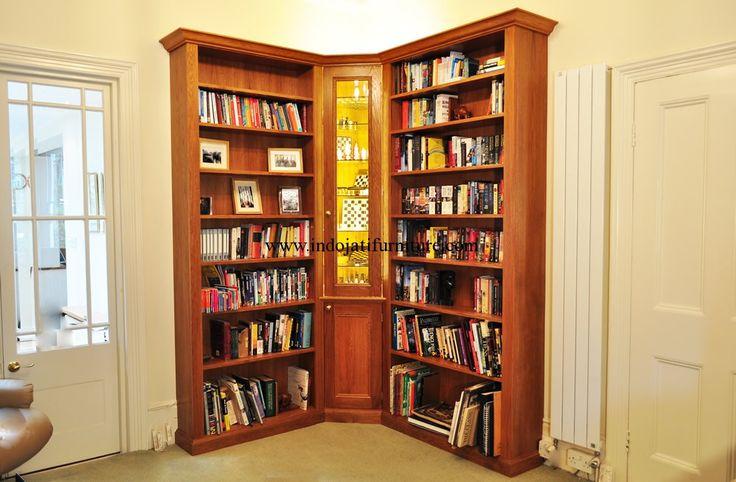 Lemari Buku Sudut Minimalis Mewah,model rak buku minimalis, rak buku dinding,rak buku minimalis dinding, rak buku dari bahan bekas,harga rak buku minimalis,membuat rak buku sederhana,rak buku dari kayu jati,model rak buku kayu
