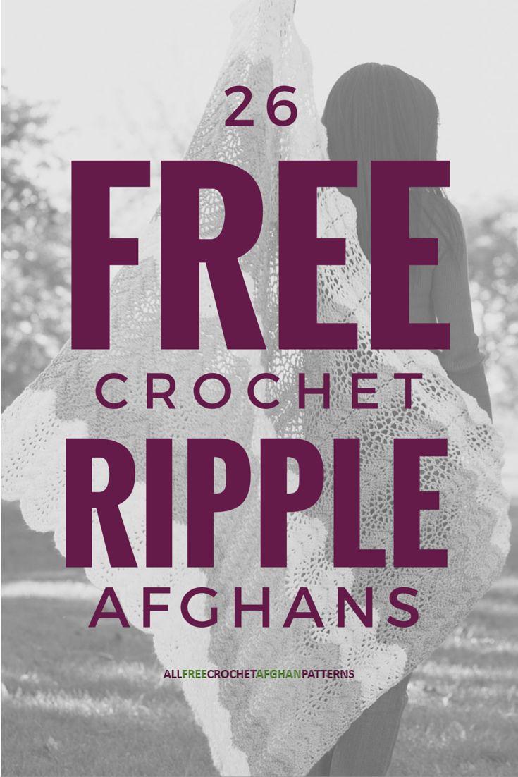 The 173 best Crochet Ripple Patterns images on Pinterest | Crochet ...