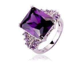 Zásnubný prsteň Emeradl Ametyst