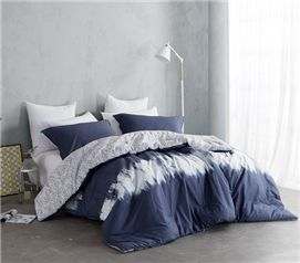 Navy Blur Twin XL Comforter Set