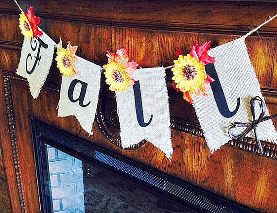 A beautiful burlap fall banner is a great way to bring in the season. This banner is made of burlap with card stock lettering and also