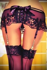 Lingerie: French #Knickers and Thigh-High #Stockings.