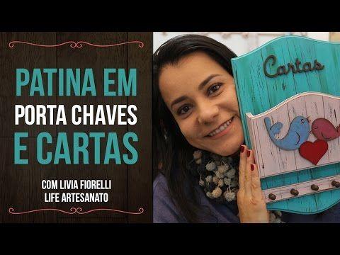 DIY | Faça Você Mesmo | Cachepo com Decoupage Guardanapo| Livia Fiorelli | Life Artesanato - YouTube