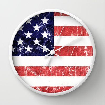 Americana Wall Clock by Nicklas Gustafsson - $30.00