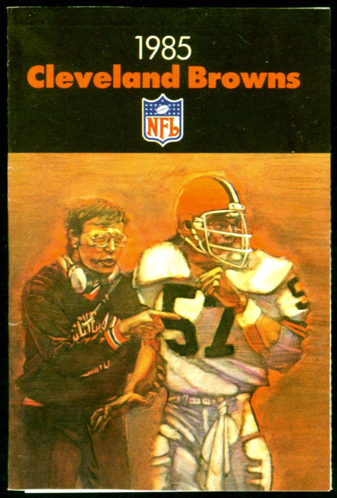 1985 CLEVELAND BROWNS SHELL GASOLINE POCKET SCHEDULE EX+NM FREE SHIPPING #SCHEDULE