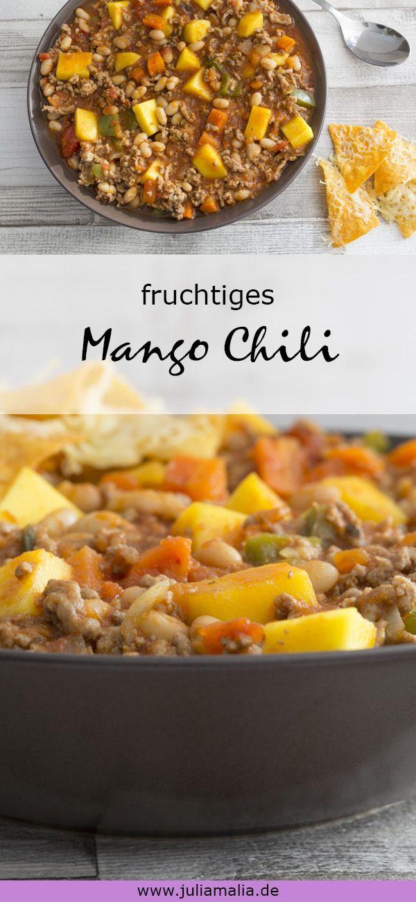 fruchtiger Mango Chili mit Hackfleisch