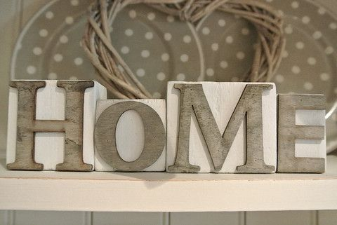 Love Blocks - Divine Shabby Chic Home blocks   A fabulous gift or wonderful addition to the home  Measuring 19cm x 6cm in total   These are made from wood and come in white with natural wood letters
