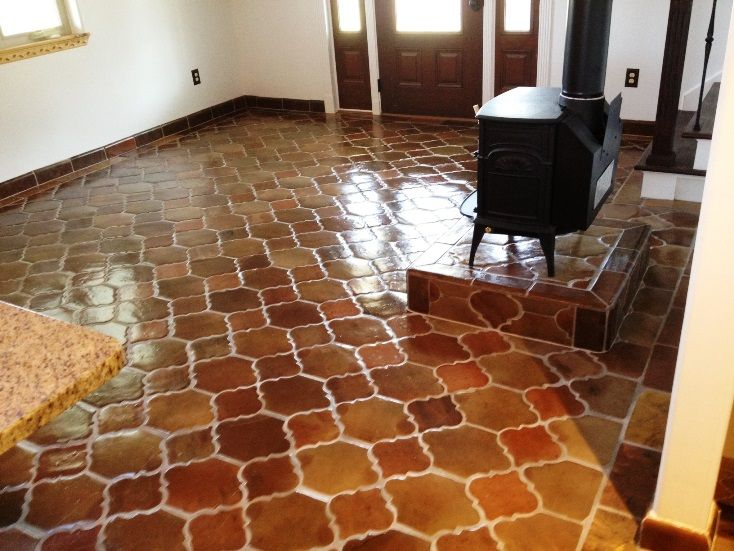 Manganese Quot Riviera Pattern Quot Saltillo Mexican Tile