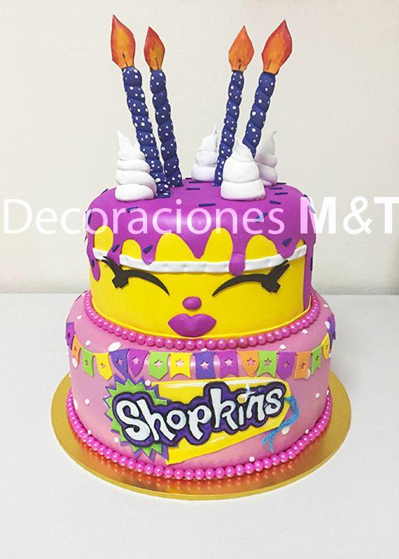 Tortas Escenográficas para cumpleaños de Shopkins, en arriendo o venta.