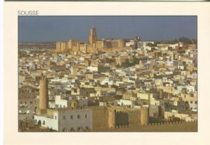 Tunisie Lumiere Postcard, Sousse, View of the medina and its ramparts 299