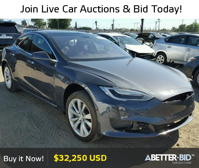 Salvage  2016 TESLA TESLA for Sale - 5YJSA1E1XGF159858 - https://abetter.bid/en/32343887-2016-tesla-model_s