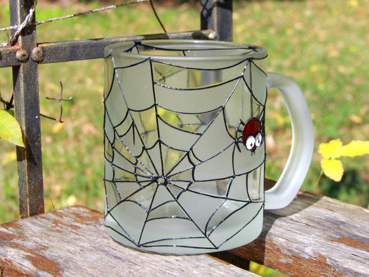 Halloween mug, Funny scary spider mug, Halloween present, Spider and web, Personalized custom mug by NBHandicraft on Etsy https://www.etsy.com/listing/460062562/halloween-mug-funny-scary-spider-mug