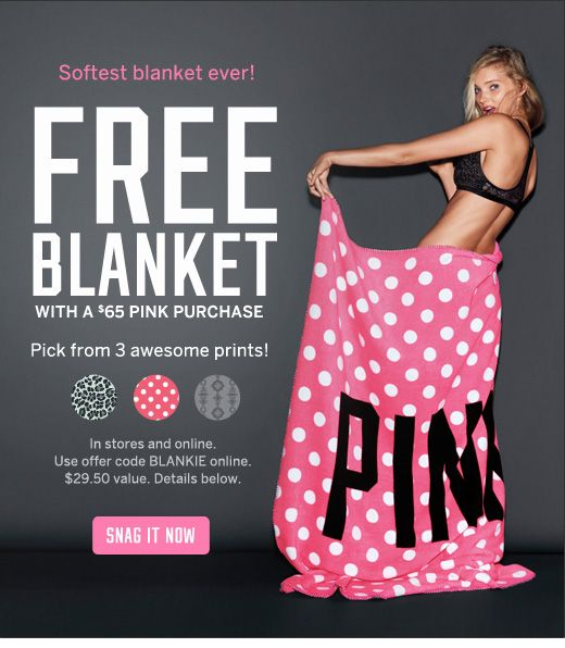 Free Victoria's Secret Blanket | Coupons | Pinterest | Blanket and ...