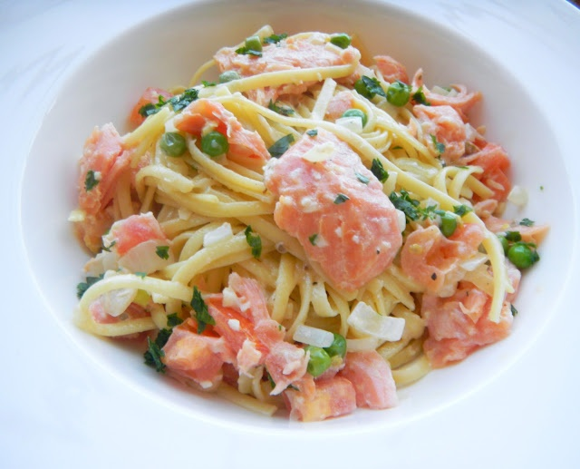 main entree pasta recipe : Cherry on My Sundae: Smoked salmon pasta