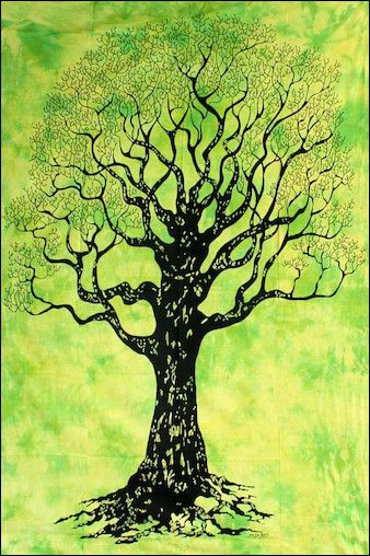 Silhouetted Tree - Light Green - Tapestry www.trippystore.com/silhouetted_tree_light_green_tapestry.html