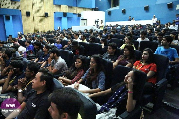 #WWIStudents eagerly listening to snippets on filmmaking as being shared by Meghna Gulzar and Priti Shahani at the #WWIMasterclass