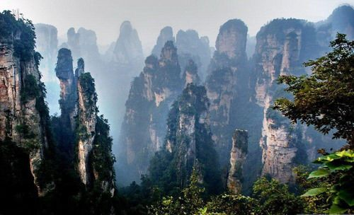 Stone Mountains Of Tianzi, China.